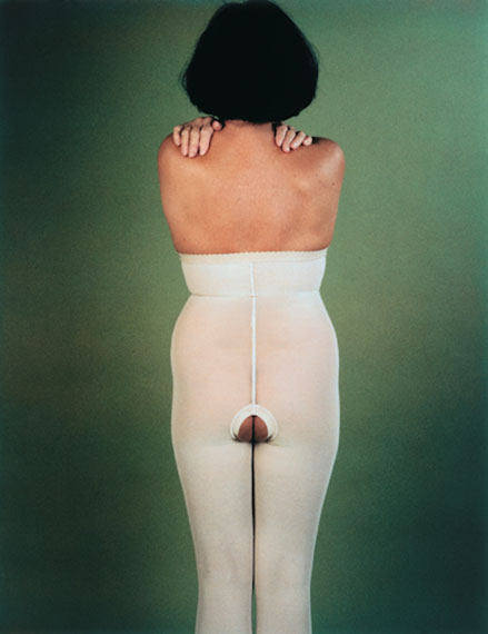 """MICHELE SYLVANDER""""It is a girl"""",1995160x115cm, edition 3Photography on alumimium Courtesy Gandy gallery"""
