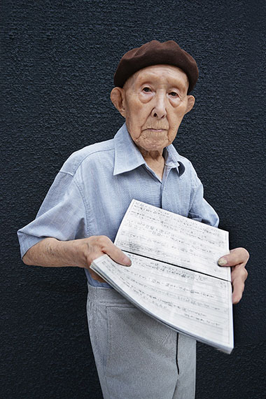Iichiro T. (age 102), former fish market dealer and poet, from the series Happy at Hundred, Nissin, Japan. 2013 © Karsten Thormaehlen