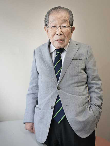 Dr. Shigeaki Hinohara (age 102), founder of the Association of the New Elderly, from the series Happy at Hundred, Tokyo. 2013 © Karsten Thormaehlen