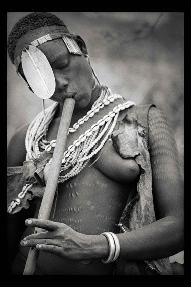 Clark & Joan WorswickCradle of Mankind: Hamar Flute Player, Turmi, Ethiopia, 1968, printed 2013Carbon pigment print83.8 x 55.8 cm©Clark & Joan Worswick, courtesy of Feroz Galerie