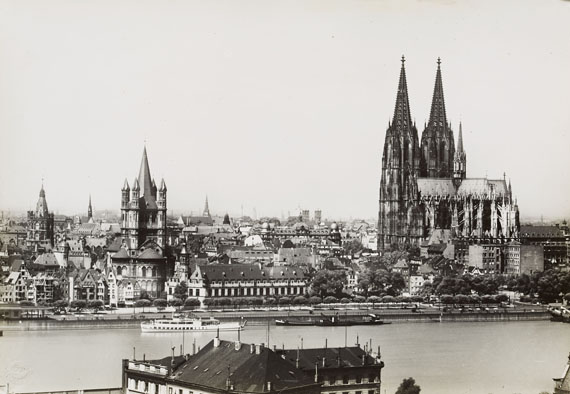 August Sander, Cologne, Rhine river with Cathedral and St. Martin. 1935/36 