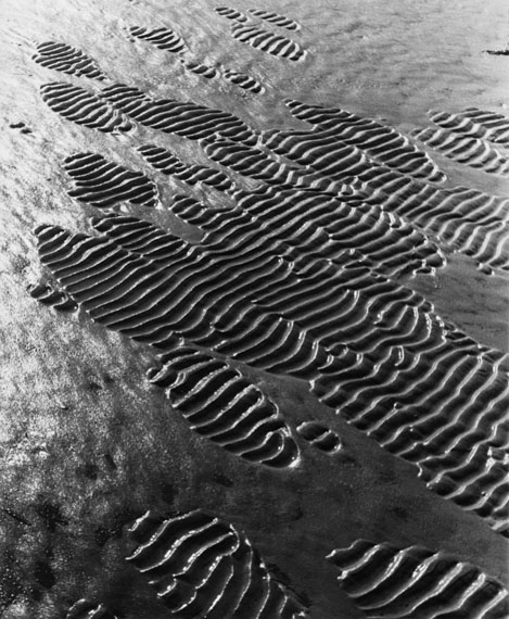 Alfred EhrhardtEine geriffelte Fläche wird allmählich von einer feinbreiigen Sandschicht überzogen1933-1936© bpk / Alfred Ehrhardt Stiftung