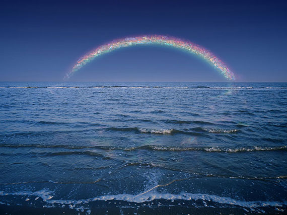 "JIANG ZHI: ""Rainbow Out of Service No.1"" (2008) C-Print. 120 x 160cm - Edition of 12"
