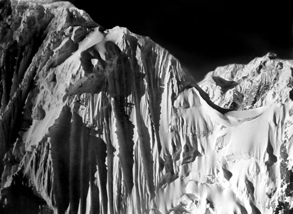 Henry Bradford Washburn: Mount Huntington's Incredible North Face, Alaska, 1978 © Bradford Washburn, courtesy Decaneas Archive, revere, MA