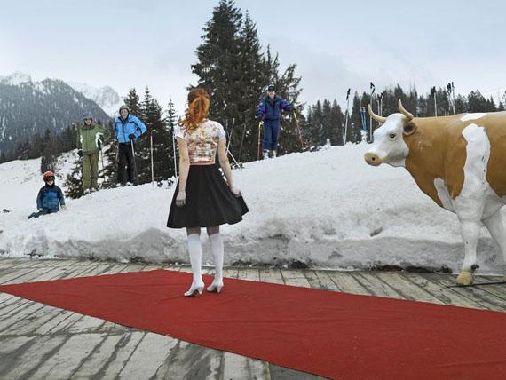 Miss Tourismus Switzerland 2010, Berghaus Gobeli, Zweisimmen. from the series «Miss» © Martin Guggisberg