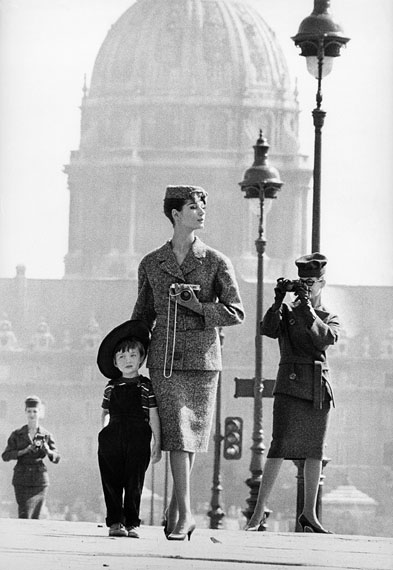 """Fashion at Invalides for Jardin de Modes"", Paris, 1958  © Frank Horvat 