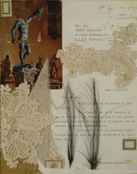 Fellini's Letter. Early 1980s. 26.5x21cm© Sergei Parajanov Museum