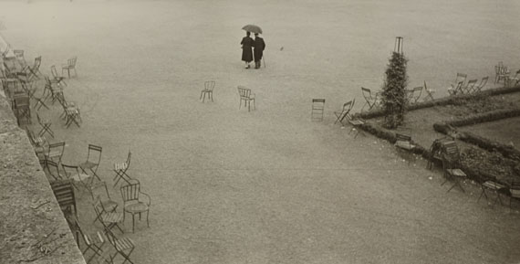 ROBERT FRANK (* 1924) 'Paris and the chairs, etc.', 1949Vintage silver print13 x 25,2 cm (5.1 x 9.9 in)Estimate € 30000-35000