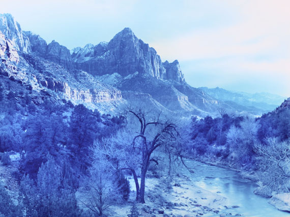 Winter Storm in Zion Canyon, Zion, Utah, 2013 , from the series Wonderful Land © David Benjamin Sherry, courtesy Salon