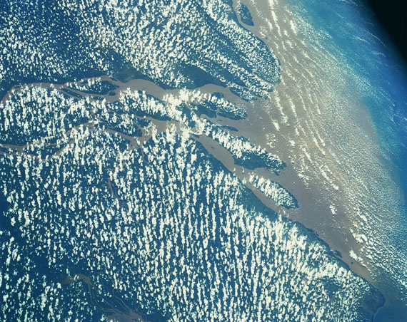 SEDIMENTS ON MOUTH OF AMAZON RIVERSpace Shuttle, 1992 © NASA, Johnson Space Center
