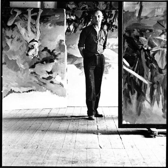 Lothar Wolleh: Georg Baselitz in seinem Atelier, Mülheim, 1971, © Oliver Wolleh