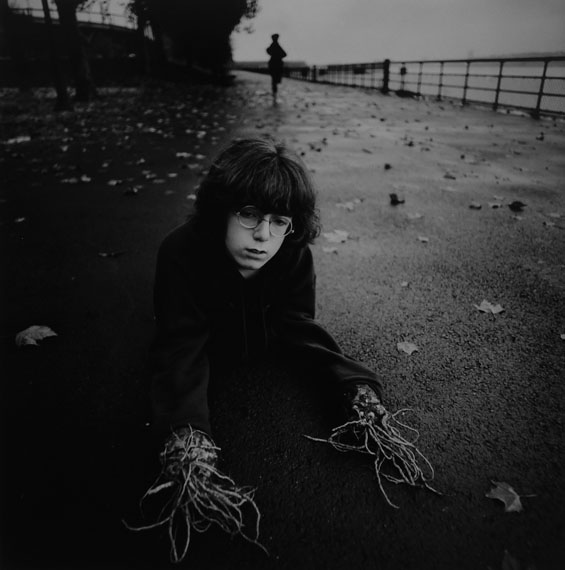 Arthur Tress, Boy with Root Hands, NY, 1971Gelatin silver print, 30 x 40 cm, edition of 50© Arthur Tress, Courtesy Galerie Esther Woerdehoff