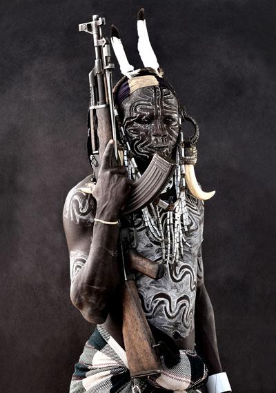 Mario MarinoBarquoi, Mursi Man, Ethiopia, March 2011Edition 5, Archival Pigment Print / Hahnemühle Paper110 x 140 cm