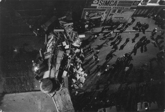 BRUNO BARBEYNight of 10 June, 1968. 14th Arrondissement, Paris. Riot on the corner of the Boulevard Pasteur & Rue de Vaugirard.Vintage Print7.8 x 11.8 inches© Bruno Barbey / Magnum Photos