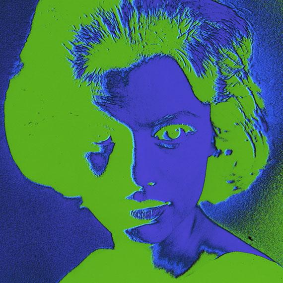 © René Groebli, Blue-green head / Kopf-blau-grün
