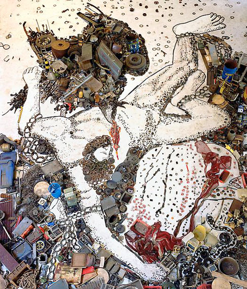 Prometheo, After Titian, 2005©Vik Muniz / Courtesy of Edwynn Houk Gallery, New York