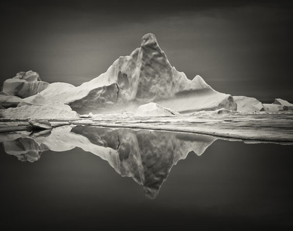 Sebastian CopelandIceberg XVII, Greenland, 2010Platinum Contact Print© Sebastian Copeland / Courtesy of Bernheimer Fine Art
