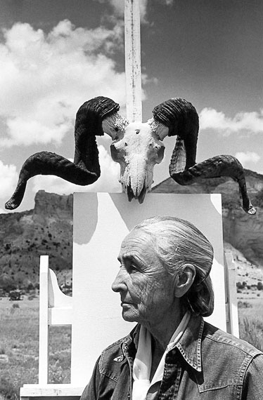 Arnold Newman: Georgia O'Keeffe, painter, Ghost Ranch, New Mexico, 1968