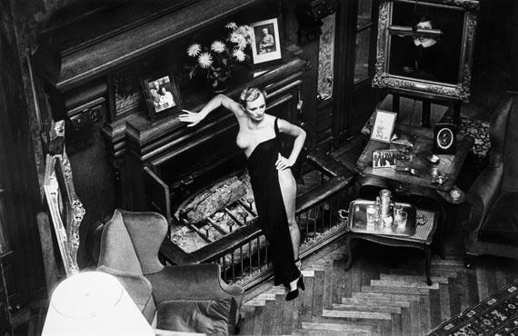 Lot 167 Helmut Newton, Roselyne, Chateau d'Arcangues (Salon), 1975Gelatin silver print£12,000 - 15,000