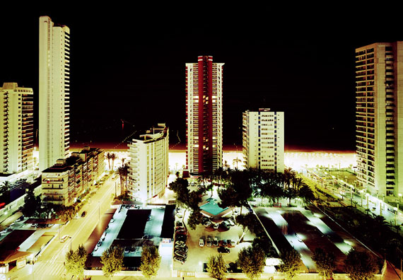 Tobias Madörin: Playa de Levante (Night), Bernidorm, Spain, 2002, 140 x 109 cm (55 x 43 in.), C-Print Edition 3 & 1 AP