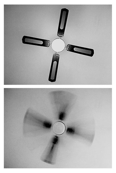 "Lina Sieckmann: Stills aus ""Rotating fan as seen from rotating bed"", Video, 2014"