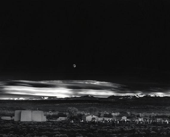 Ansel Adams Moonrise, Hernandez, New Mexico, 1941 Gelatin silver print 15.5 х 19.5 in. Est. US$50,000–70,000