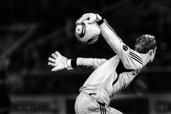 Regina Schmeken: Deutschland-Belgien, Düsseldorf, 11.10. 2011, 3:1, Torwart Manuel Neuer