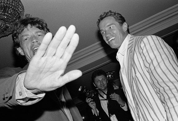 Jean Pigozzi: Mick Jagger und Arnold Schwarzenegger, 1990, Centre Pompidou, Musée National d'Art Moderne, Paris