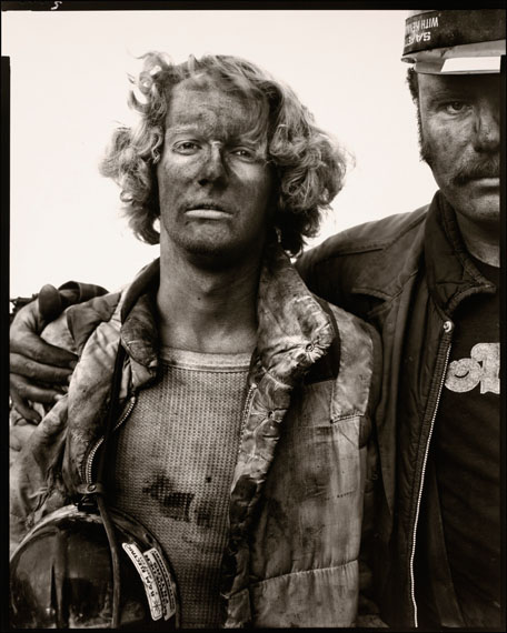 Richard Avedon: Mike Bencich, Dan Ashberger, Kohlebergwerkarbeiter, Somerset, Colorado, 29. August 1980, 1984-85
