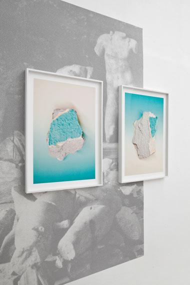 Samuel Henne: »fragment suite«, InstallationsansichtGalerie Jette Rudolph, Berlin, 2013 © Samuel Henne