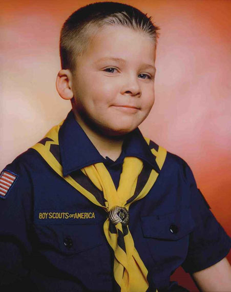 Andres Serrano: America: Boy Scout John Schneider, Troop 422, 2002Cibachrome, mounted on Plexiglas, in artist's frame50 х 60 in.US$15,000–20,000