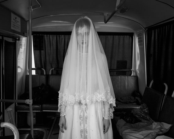 Davide Monteleone: Spasibo, Rada, 14, trying in a wedding dress…, 2013. © Davide Monteleone