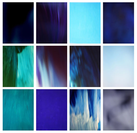 "HANNO OTTEN: ""Blau"", from the series ""13 Farben"", 201412 c-prints, ed. 7, 40 x 30 cm"