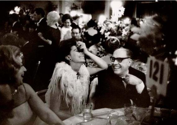 Academy Awards Dinner, Sophia Loren, Carlo Ponti, 1962 © Lawrence Schiller