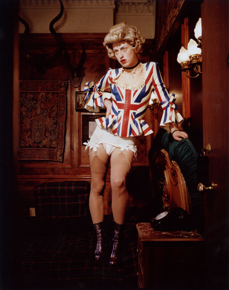 © Bettina Rheims, Bonkers - A Fortnight in LondonHarriet Vernet - Queenie Standing on the Bed 2013