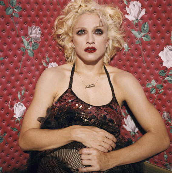 Madonna Sitting on the Floor and Lifting her Dress 1994 © Bettina Rheims