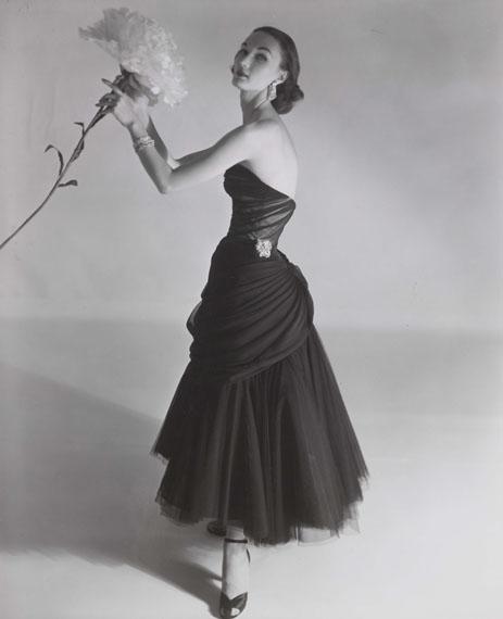 Horst P. Horst: Evelyn Tripp modelling a Charles James dress, Vogue, September 1951© Horst Estate and Condé Nast