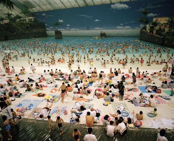 The Artificial beach inside the Ocean Dome. Miyazaki, Japan. 1996. © Martin Parr / Magnum Photos