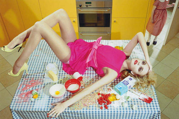 Miles Aldridge (b. 1964)Homeworks #4, 2008lambda print50.8 x 61cm. (20 x 24in.)This work is number 1 from the edition of 10.£2,000-3,000