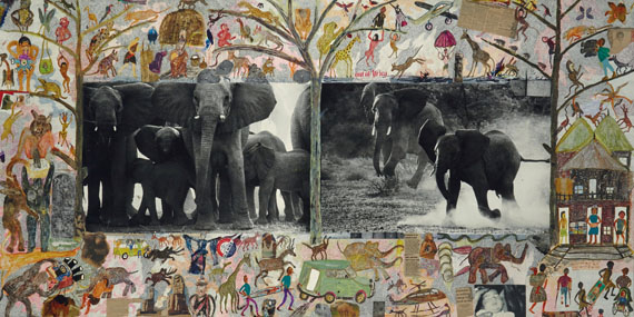Lot 373PETER BEARD (BORN IN 1938)Cow Elephant Herd at Buffalo Springs, Kenya (From The End of The Game), 1960€100,000–150,000
