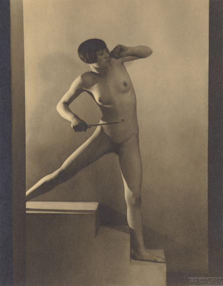 "Frantisek Drtikol. ""THE MOVEMENT"". 1927. Vintage. Pigment print.. 11 ¼ x 8 ¾ in."