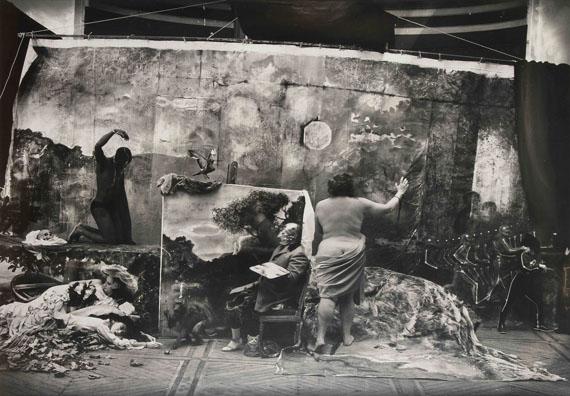 294. Joel-Peter Witkin (1939)Studio of the Painter, Courbet, Paris, 1990.Gelatin silver print, dedicated to Claude Berri.