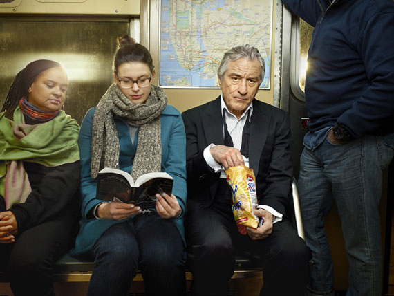 Martin Schoeller · Robert De Niro on Subway · New York · 2013