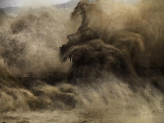 Lot No. 179Edward Burtynsky, Xiaolangdi Dam #4, Yellow River, Henan Province, China, 2011Chromogenic print, Ed. 2/3, framedEstimate: €30,000-50,000