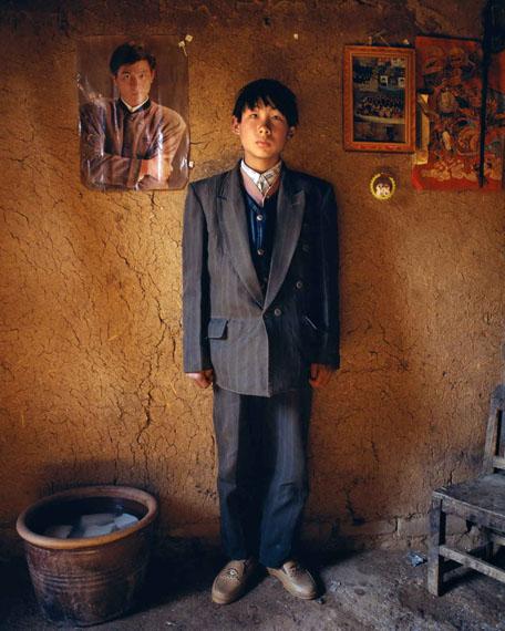 Jiang JianZhao Weidong, 16 year-old, at Yugong Village, Wangwu Township of Jiyuan County, 1997Archival pigment print, 100 x 80© Jiang Jian, courtesy FEROZ Galerie, Bonn