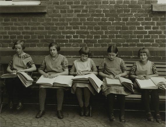 August Sander Blind Children at their Lessons, c. 1930Gelatin Silver Print, printed later© 2014 VG Bild-Kunst, Bonn, Die Photographische Sammlung/SK Stiftung Kultur, CologneCourtesy by FEROZ Galerie, Bonn