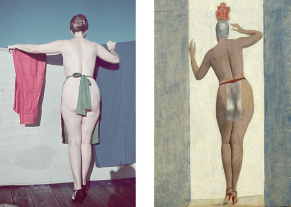 left: Alfons Walde: Anonymous, around 1940, fine art print from original slide © Alfons Walde / Bildrecht 2014