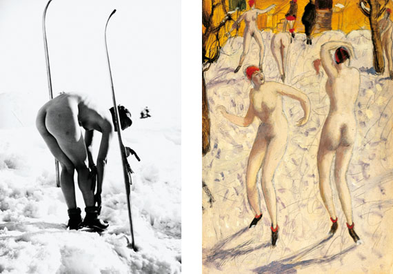 left: Alfons Walde: Lacerta, January 1935, fine art print from original negative © Alfons Walde / Bildrecht 2014