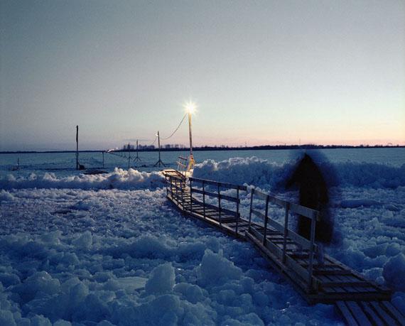 André Lützen  zugefrorener Fluss Dwina, Archangelsk, Russland, 2013