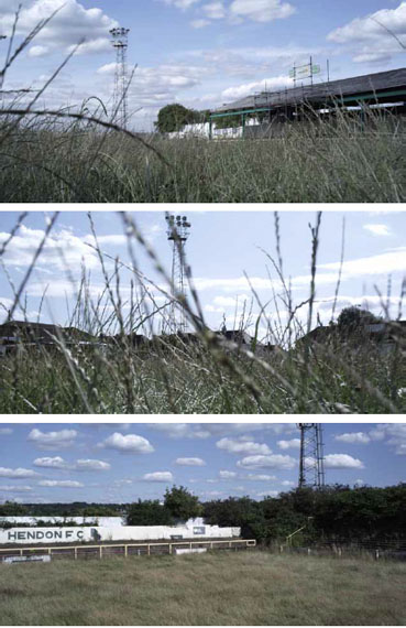 "Film stills from ""Hendon F.C."", 2009 © Mark Lewis. Collection of Beverly and Jack Creed"